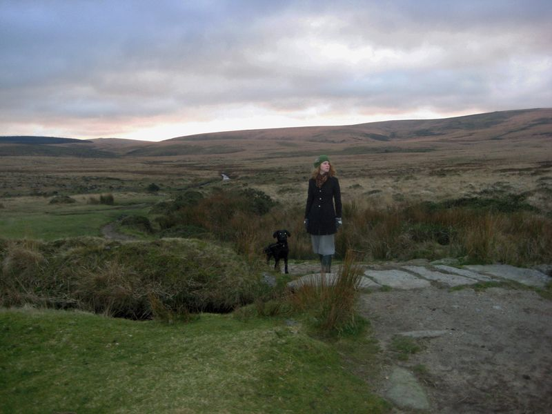 Tilly and Victoria on Scorhill Down