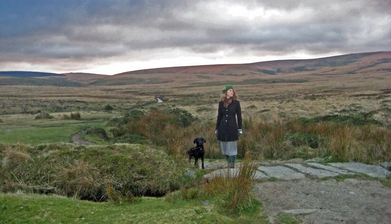 Tilly & Victoria on the moor Dec 09