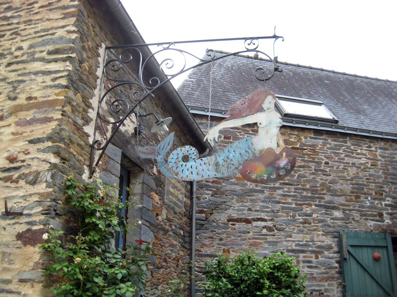 Mermaid sign in La Gacilly