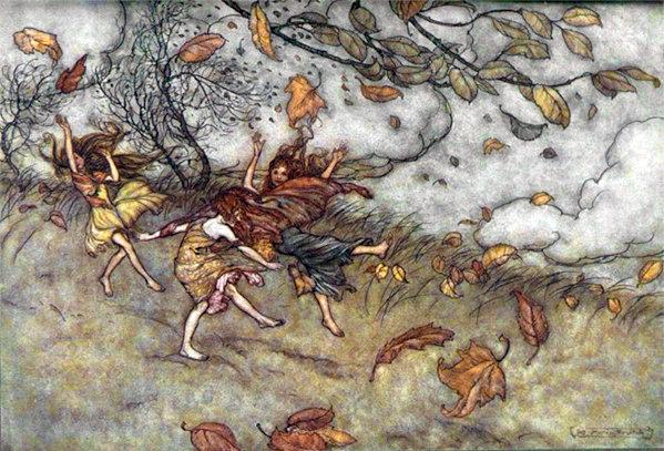 Autumn fairies by Arthur Rackham