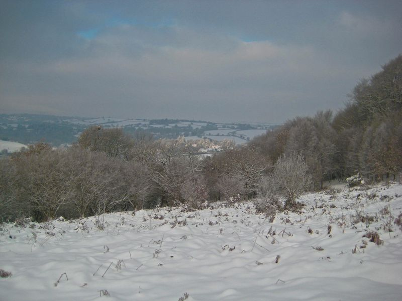The village in the distance
