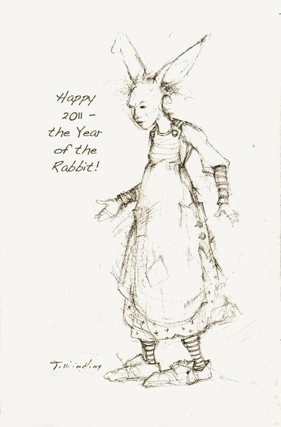 Rabbit Girl for New Year's Eve