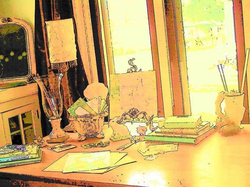 Amy Sperry Faldet's desk