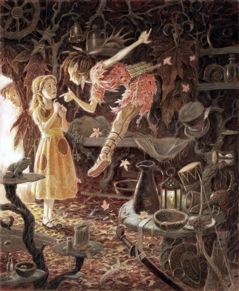 Peter Pan in Scarlet by David Wyatt