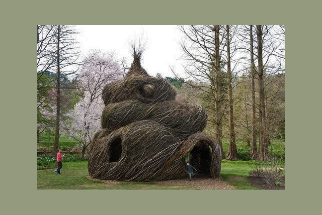 Sculpture by Patrick Doughtery