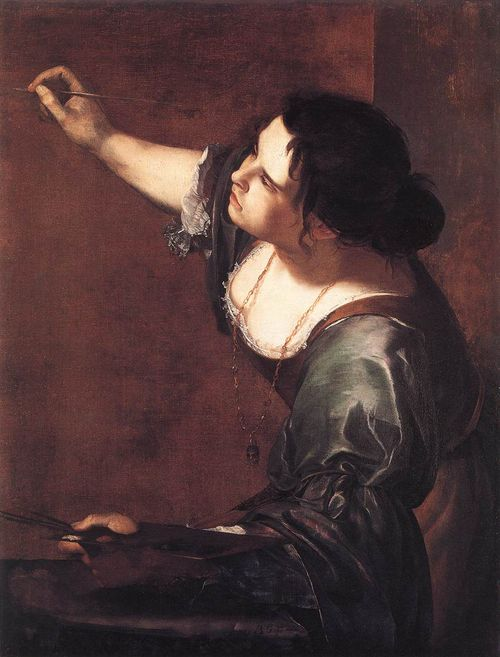 Self-portrait by Artemisia Gentiles