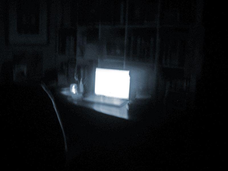 My desk pre-dawn