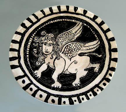 Ceramic plate by Guy Veryzer