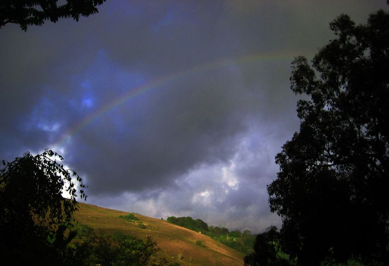 Rainbow over Meldon Hill