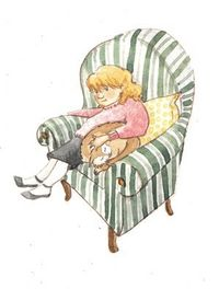 Blog_girl and cat in chair