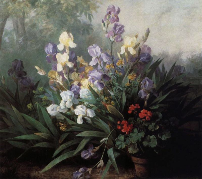 Landscape with Iris