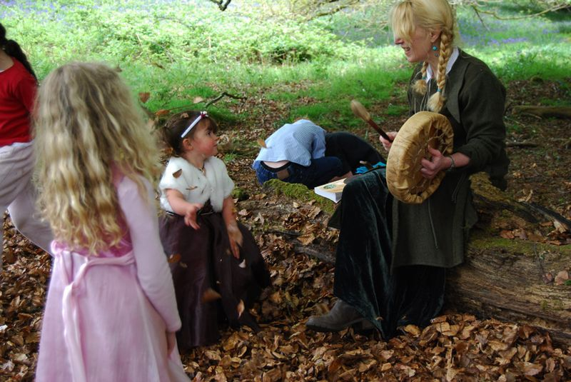 With young faeries in the Deer Park