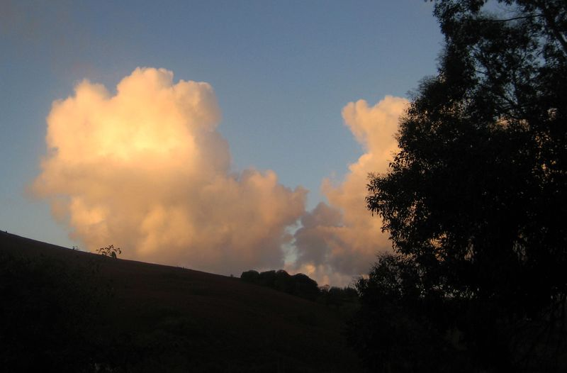 Clouds over Meldon Hill