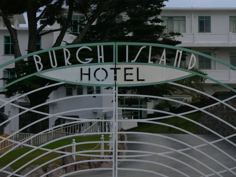 Burgh Island Hotel gate