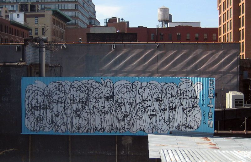 Graffiti on the lower west side of NYC