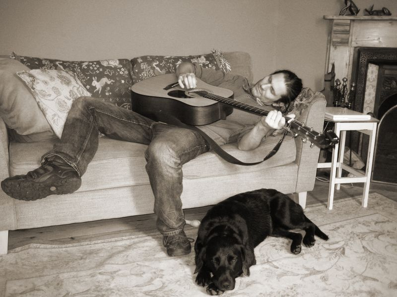 Musician at rest