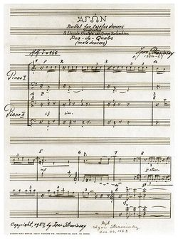 Igor Stravinsky ms