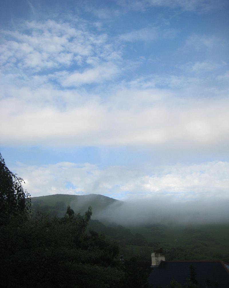 Morning mist on Meldon Hill