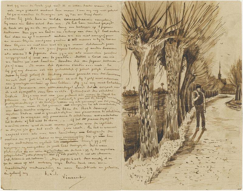Letter sketch by Vincent Van Gogh