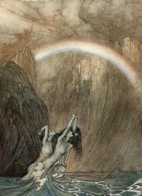Demoiselles du Rhin par Arthur Rackham.