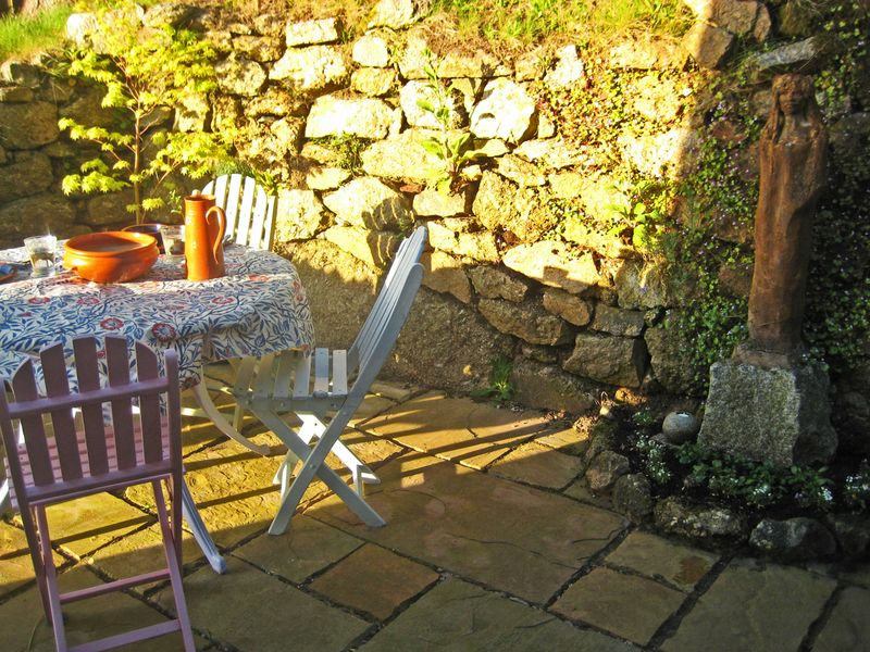 The back patio at Bumblehill