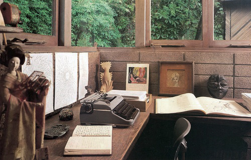 Anais' writing desk in California