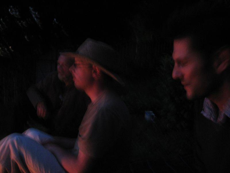Mystery Man, David Wyatt, Howard Gayton, beside the fire