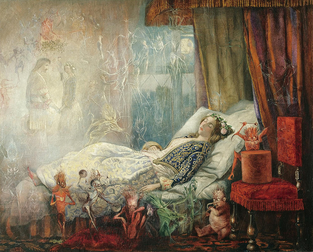'The stuff that dreams are made of' by John Anster Fitzgerald