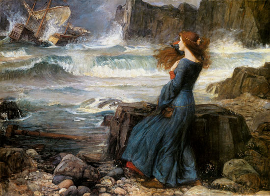 Miranda (from The Tempest) by John W. Waterhouse