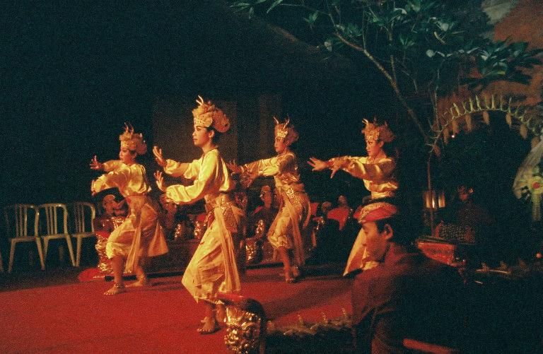 A women's deer dance in Bali