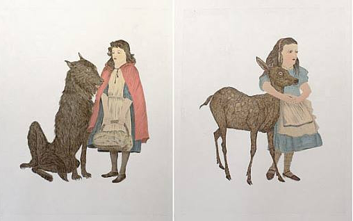 Two prints by Kiki Smith