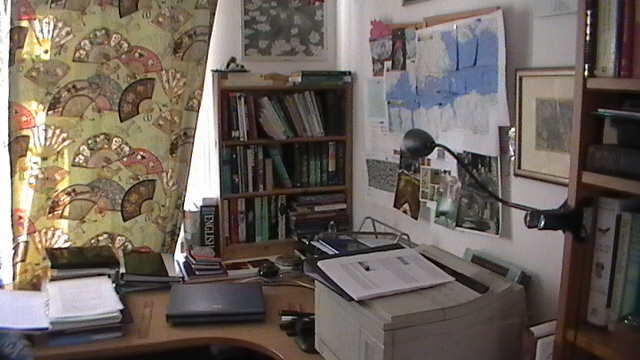 Katherine Langrish's workspace, 1