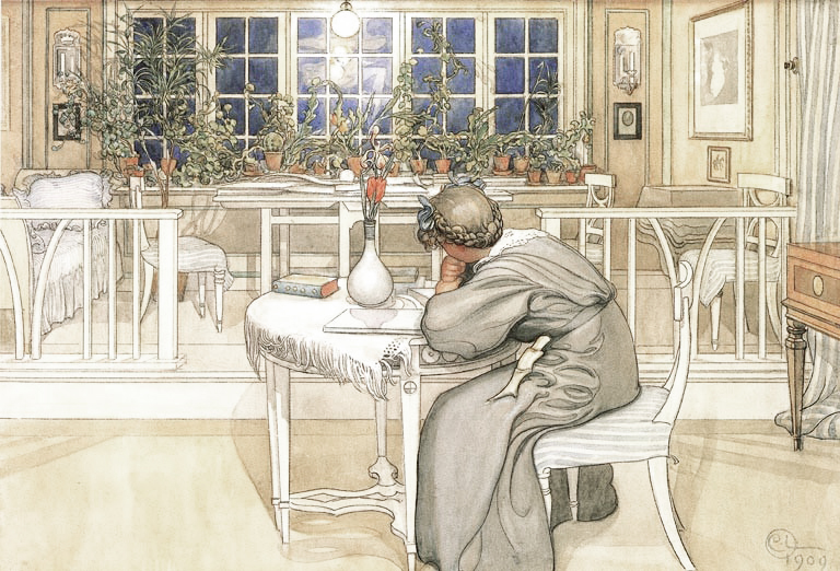 The Night Before the Journey to England by Carl Larsson