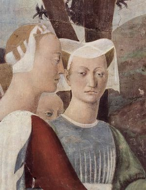 A detail from Piero della Francesca's Legend of the True Cross