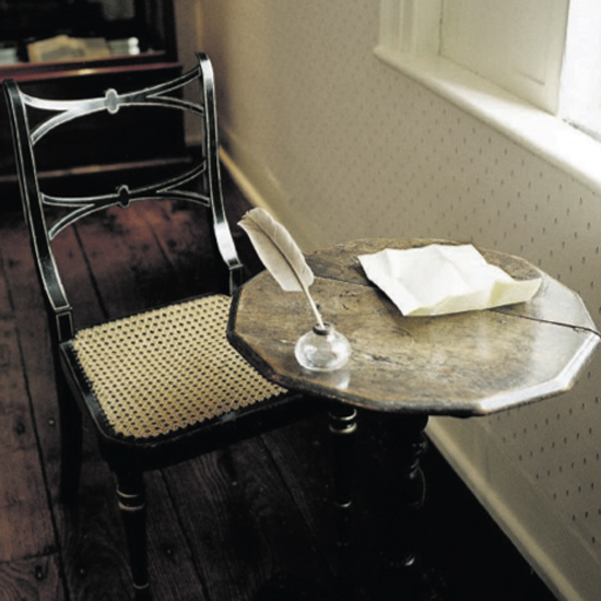 Jane Austen's writing table at Chawton Cottage