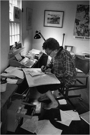 Kurt Vonnegut photographed by Jill Krementz