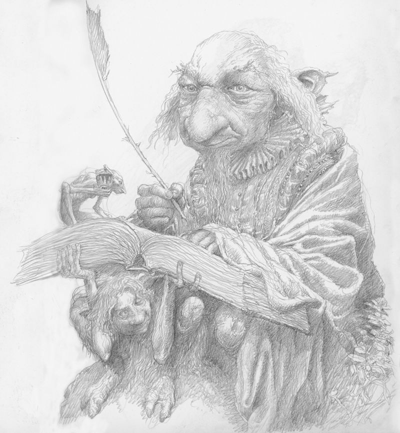 Fairy Scribe by Alan Lee
