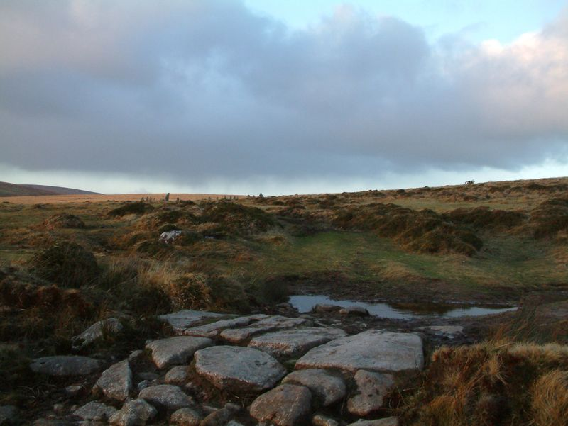 Near Scorhill Stone Circle as the rain rolls in.