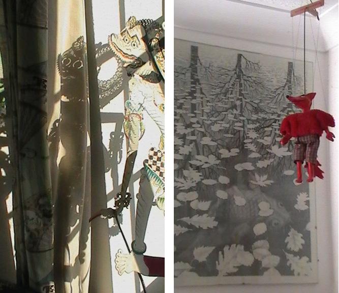 Katherine Langrish's workspace, 3 & 4