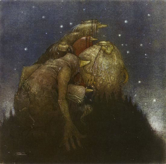 Trolls in Starlight by John Bauer