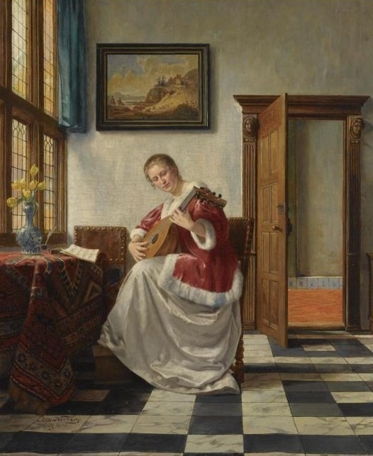 Otto-karl-kirberg-1850-1926-playing-the-lute