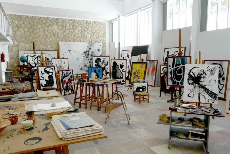 Joan  Miró's studio