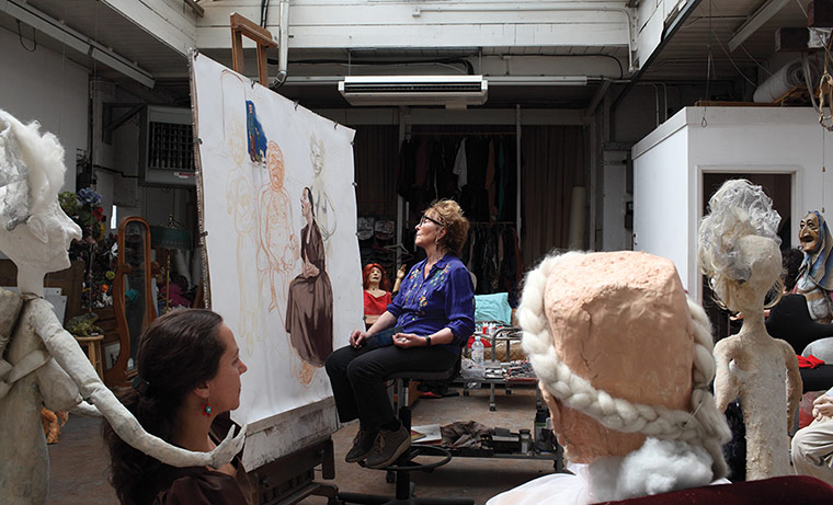 Paula Rego at work in her London studio