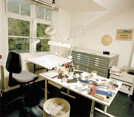 Judith Kerr's studio