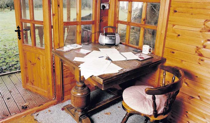 Louis de Bernières' writing shed