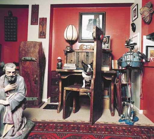 Nicola Barker's writing desk