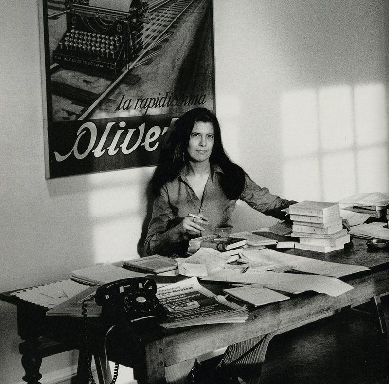 Susan Sontag, photographed by Jill Krementz