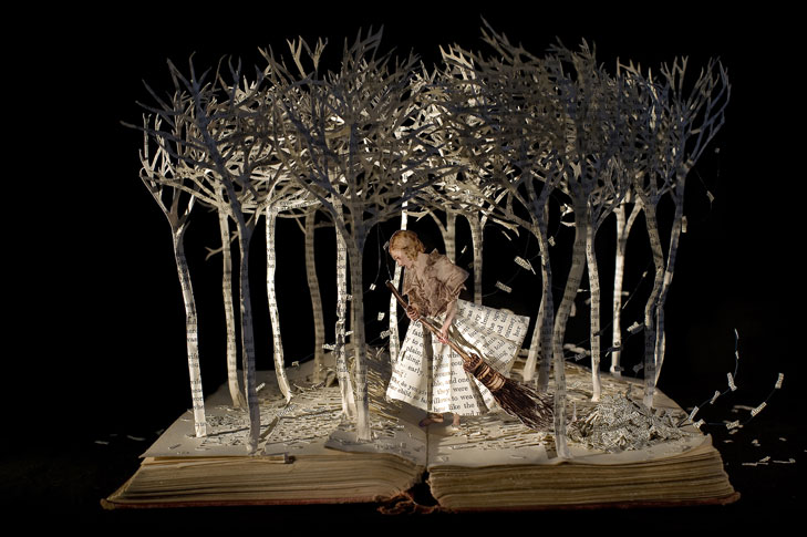 The Girl in the Wood by Su Blackwell