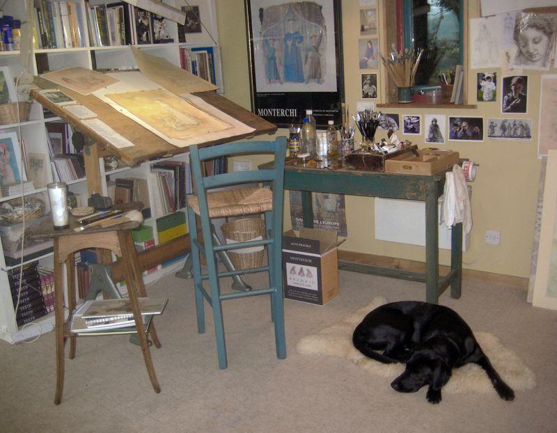 The studio muse