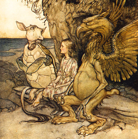 The Mock Turtle, Alice, and the Gryphon by Arthur Rackham
